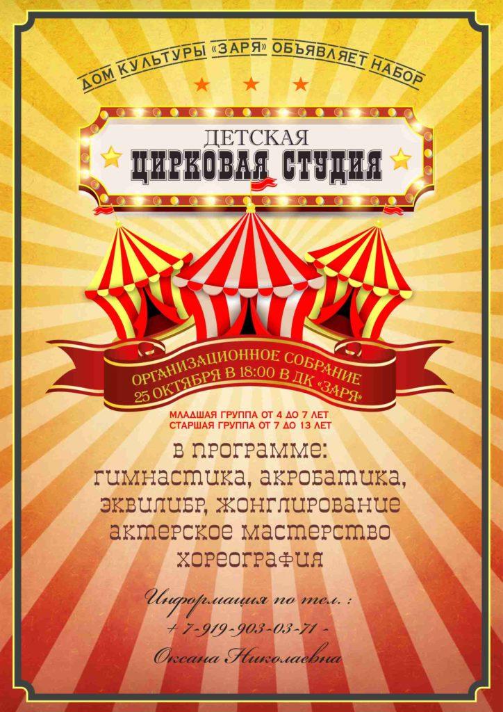 tsirk 724x1024 - Набор в цирковую студию